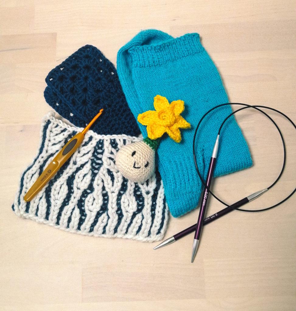 Tricoter ses chaussettes ou crocheter des figurines chez Nuage de Laine.