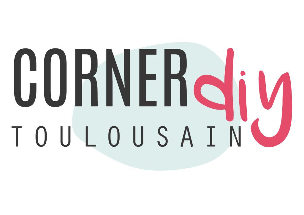 Le logo du Corner DIY toulousain imaginé par Au boulot cocotte avec Lovely Bulle pour l'édition Toulouse du salon Tendances Créatives 2019