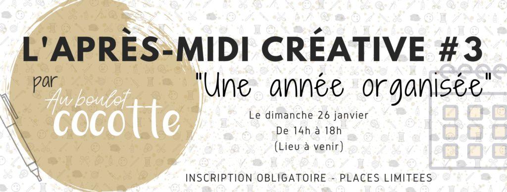 """La 4ème après-midi créative des cocottes aura pour thème """"Une année organisée"""""""