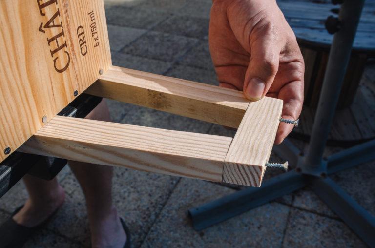 Tutoriel table de chevet : Bien aligné les tasseau