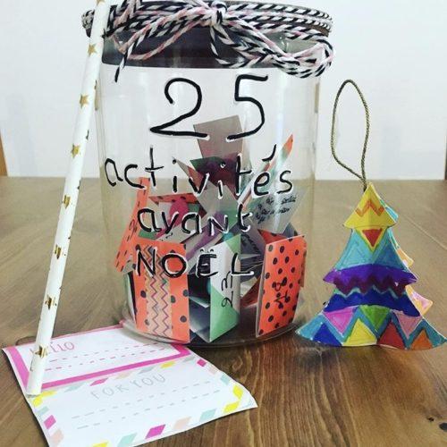 Faire patienter les enfants avec les 25 activités avant Noël dans un pot.