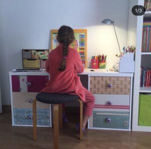 Une fois les rénovations faites, voici un nouveau bureau pour Emma.
