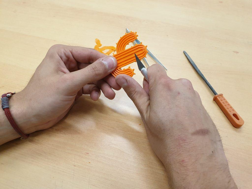 Antoine a réalisé un cactus à l'imprimante 3D