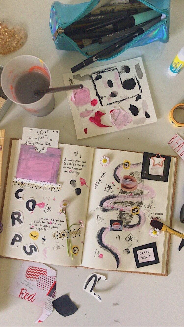 Parce qu'Amélie nous pousse à voir après les lignes, nous nous essayons à explorer notre créativité. Merci Bambichoses