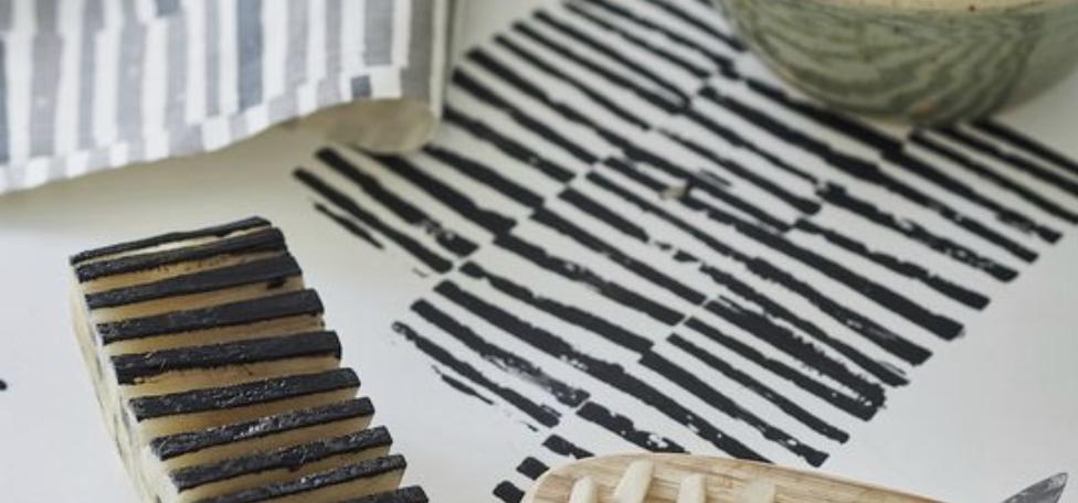 La patatogravure et ses motifs réalisables à l'infini.