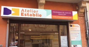 Atelier Establie est un lieu d'expression scénique et créatif. On y retrouve du théatre et des cours de dessin /peinture dans le quartier de St aubin à Toulouse