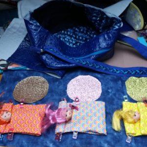 Le sac de poupées réalisé en couture par Ana @anamathe31