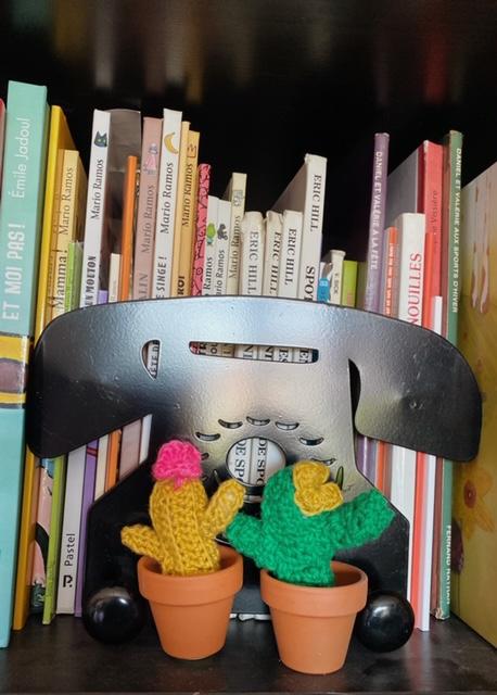 Les cactus en crochet réalisés par Ana @anamathe31 lors des ateliers en ligne des cocottes