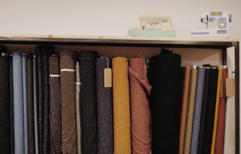 Un échantillon des tissus que vous retrouverez dans la boutique Les Marchandes à Toulouse