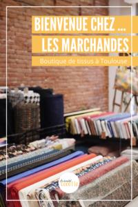 Bienvenue chez Les Marchandes. Cette boutique de tissus se trouve en plein coeur de Toulouse. Claire et Julie vous proposent une sélection de tissus européens mais aussi des patrons couture pour tous et de la mercerie. Sans oublier les cours de couture le samedi. #toulousecreative