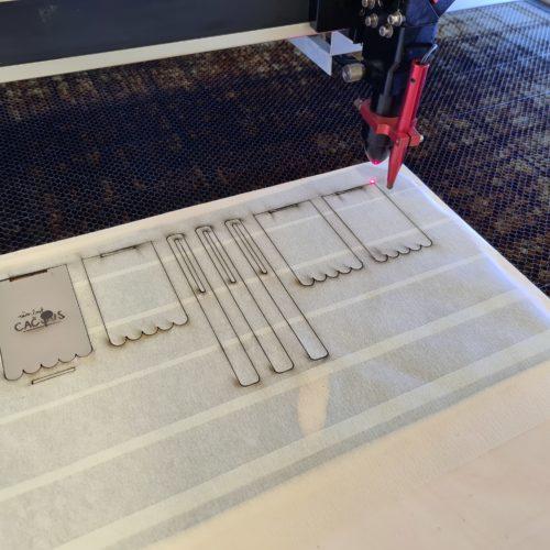Le résultat après le travail de la découpe laser.