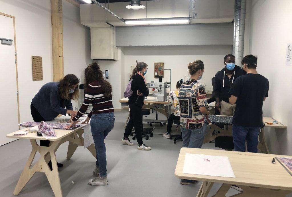 Le textileLab du Roselab lors des journées portes ouvertes