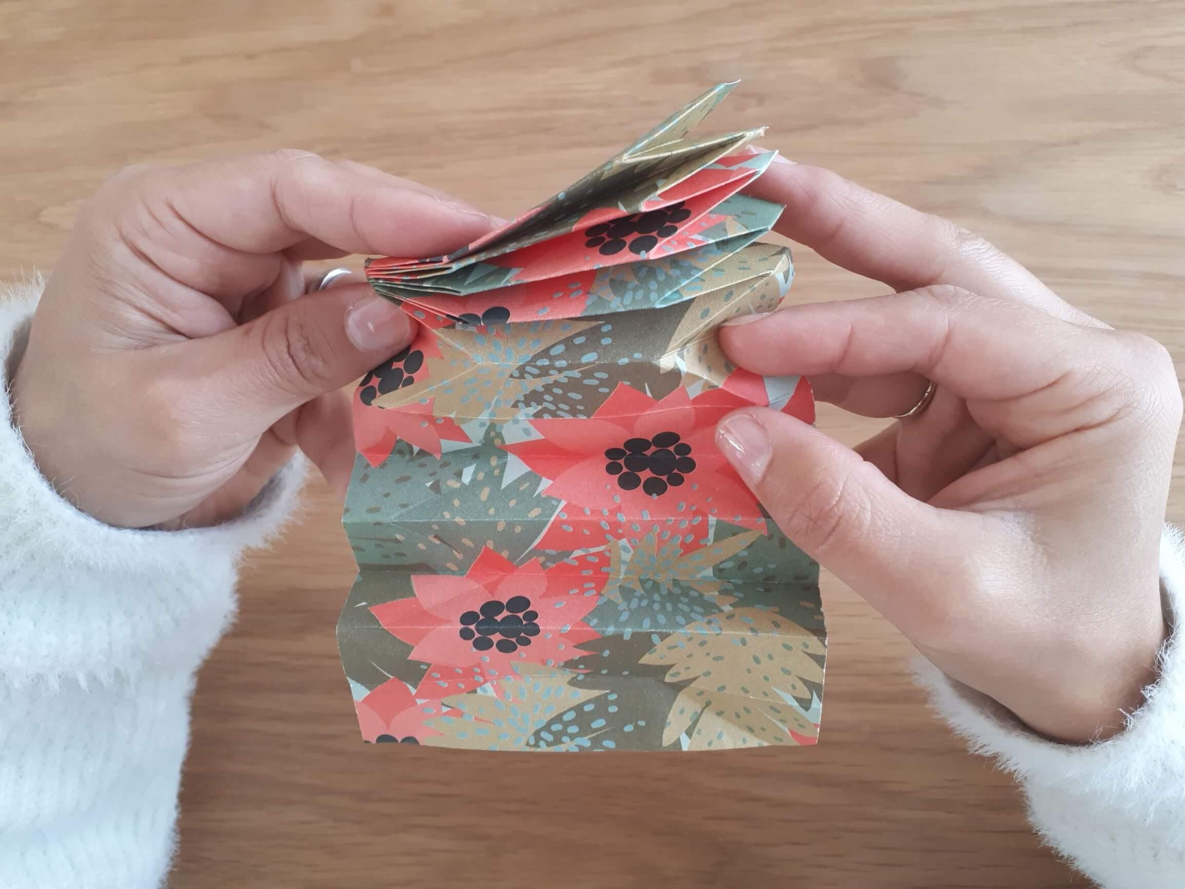 Détail pliage origami