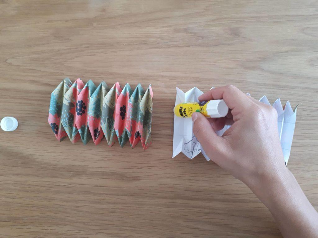 Collage vase origami