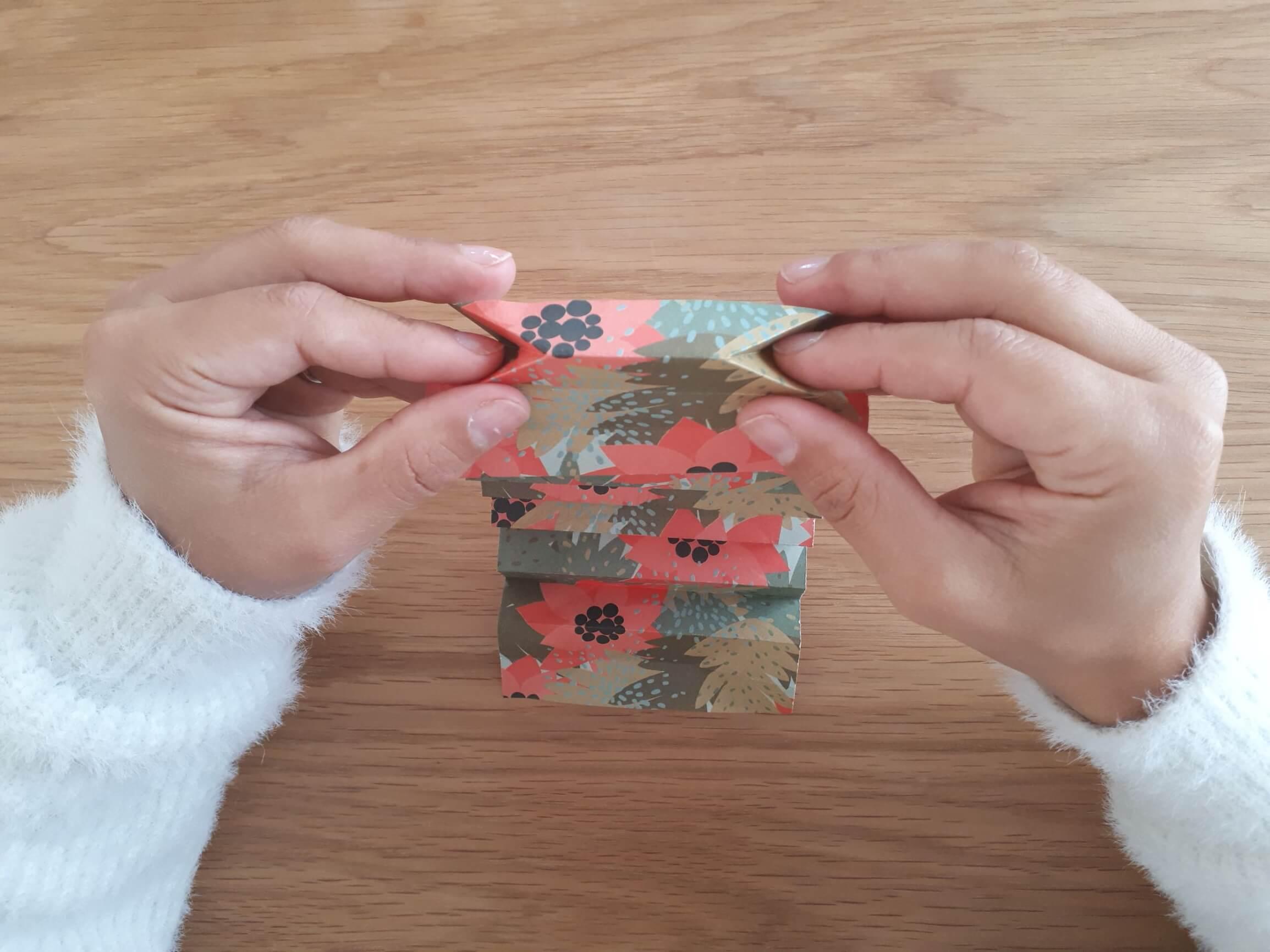 Mise en forme vase origami