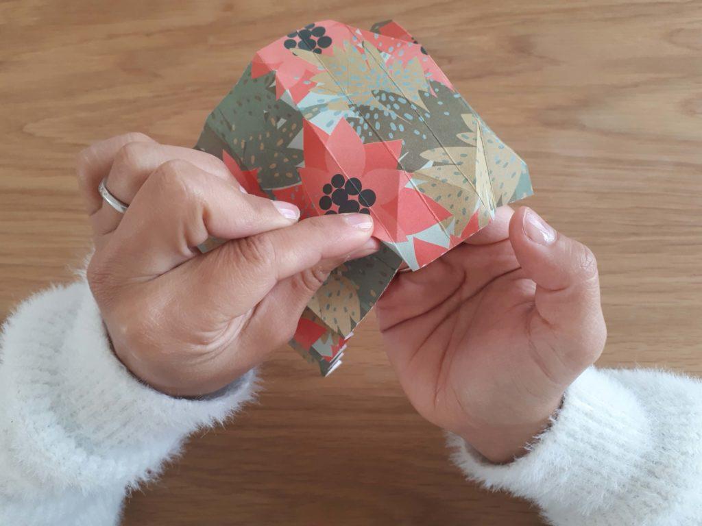 Pincer plis vase origami