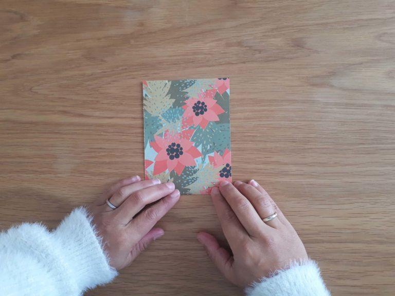 Principe de pliage vase origami
