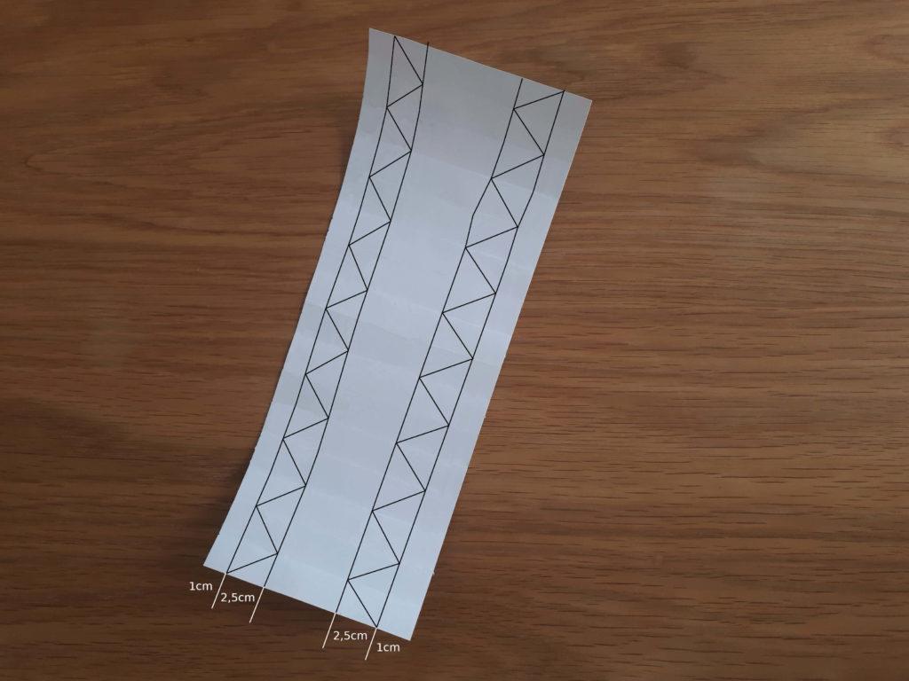 Tracage diagonales vase origami