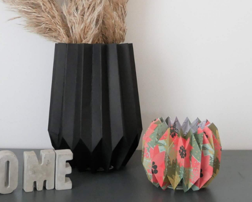 Faire : Vase et photophore en origami