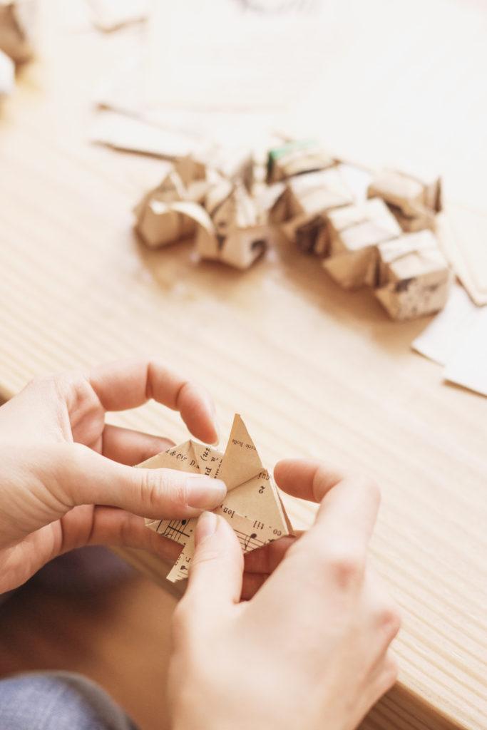 Origami pratiqué par Annabelle de La Nabelle atelier.