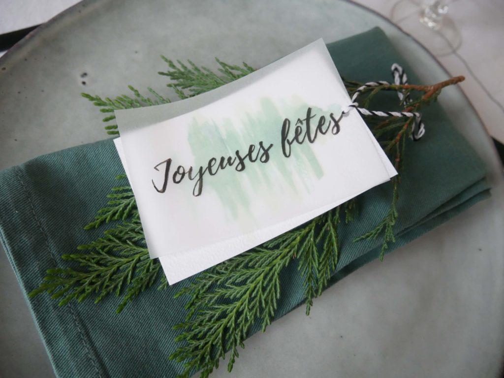 Marque-place joyeuses fêtes