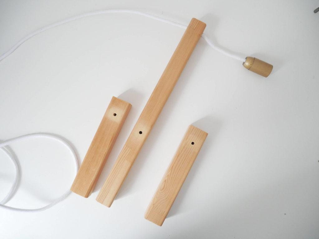 lampe bois avant assemblage