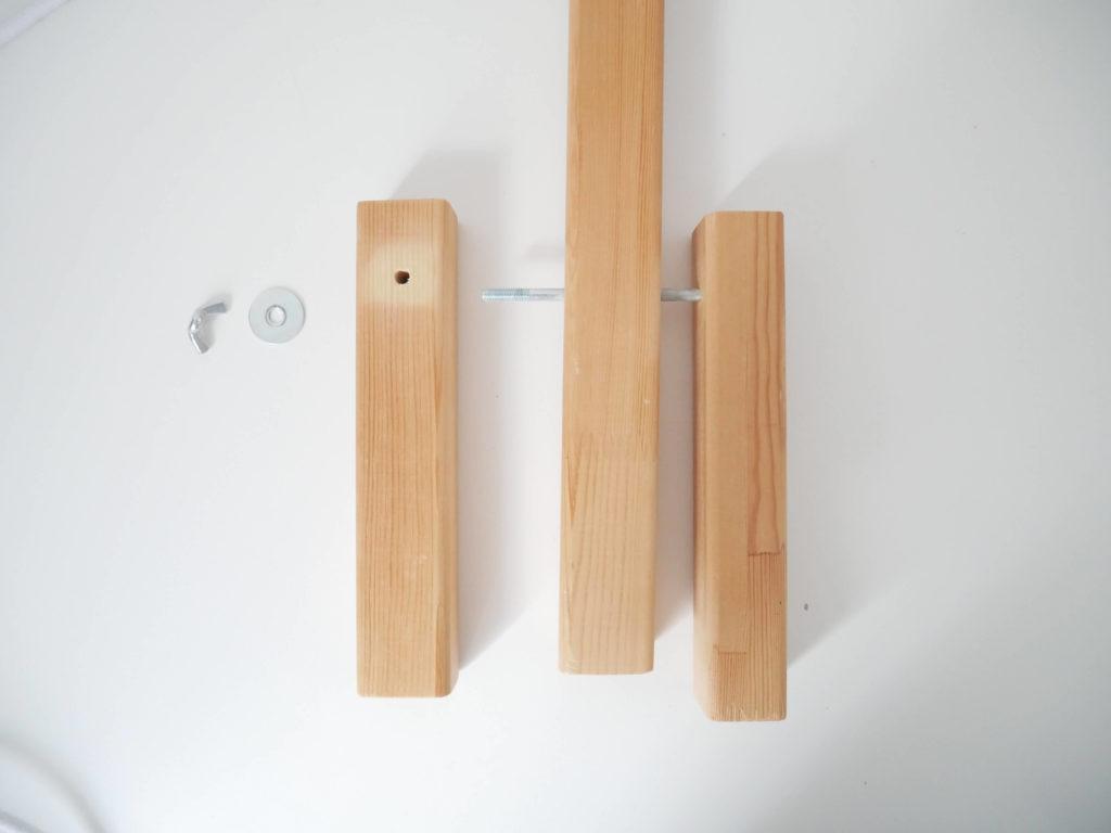 assemblage lampe bois