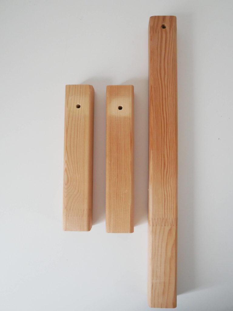 Tasseaux lampe bois