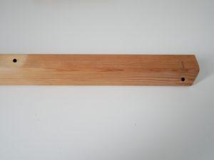Perçages tasseau principal tutoriel lampe bois