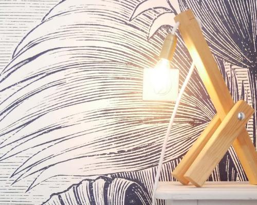 Faire : une lampe de chevet en bois