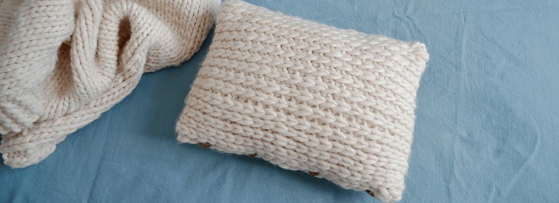 Image à la une coussin crochet