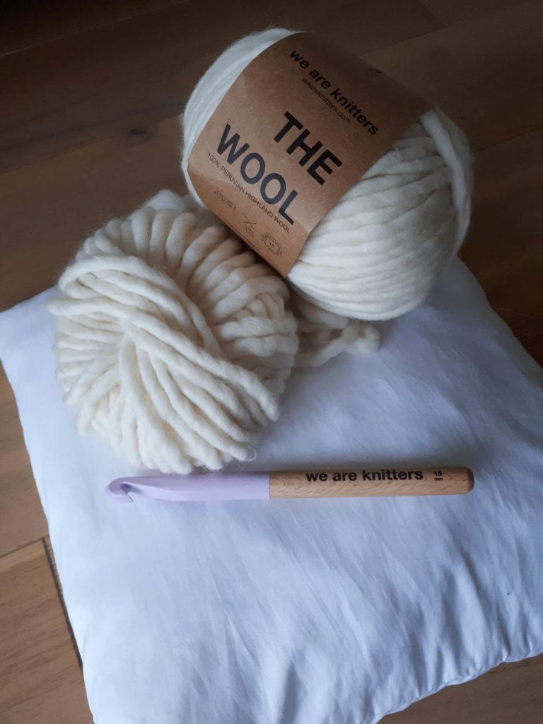 Matériel housse de coussin crochet