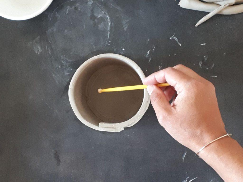 Cache-pot : marquer soudure