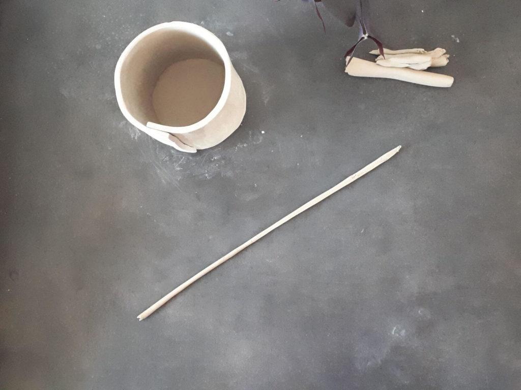 Cache-pot : boudin de soudure base