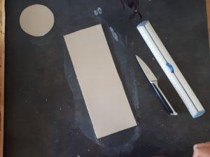 Cache-pot : rectangle argile