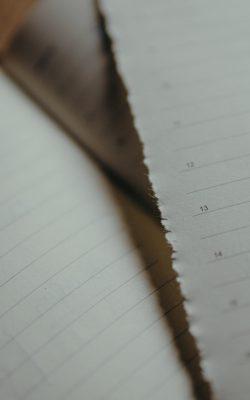 Déchirez les pages de votre ancien agenda pour les recycler