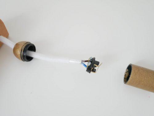Montage douille lampe bois
