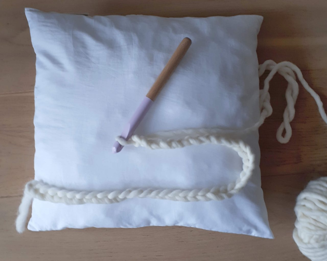 crocheter housse coussin